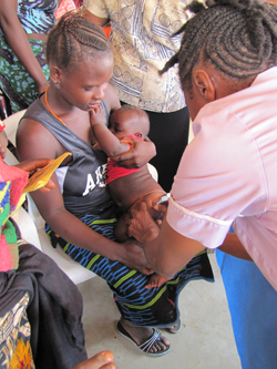 Helping to provide heathcare in Sierra Leone