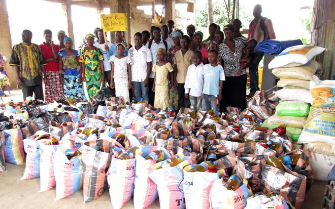 Food donations to Sierra Leone