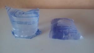 water-sachets