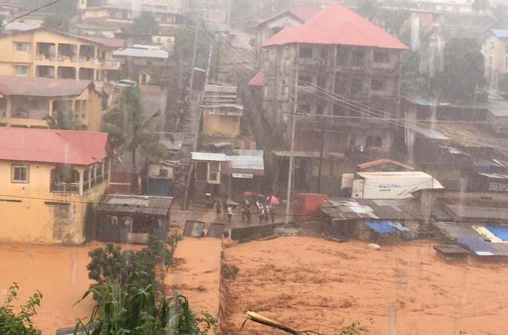 Devastating  Flooding and Mudslides have hit Sierra Leone