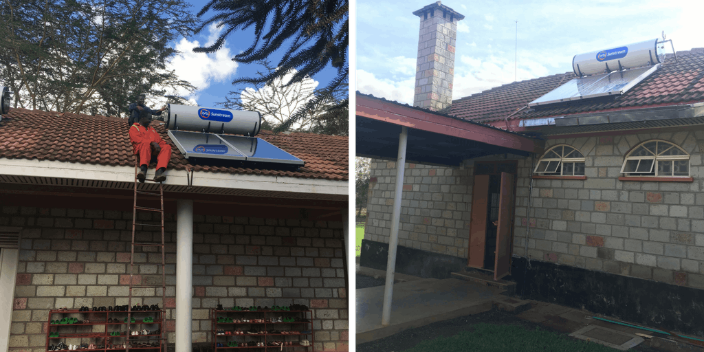Solar Hot Water Heater System Installed at Lewa Children's Home