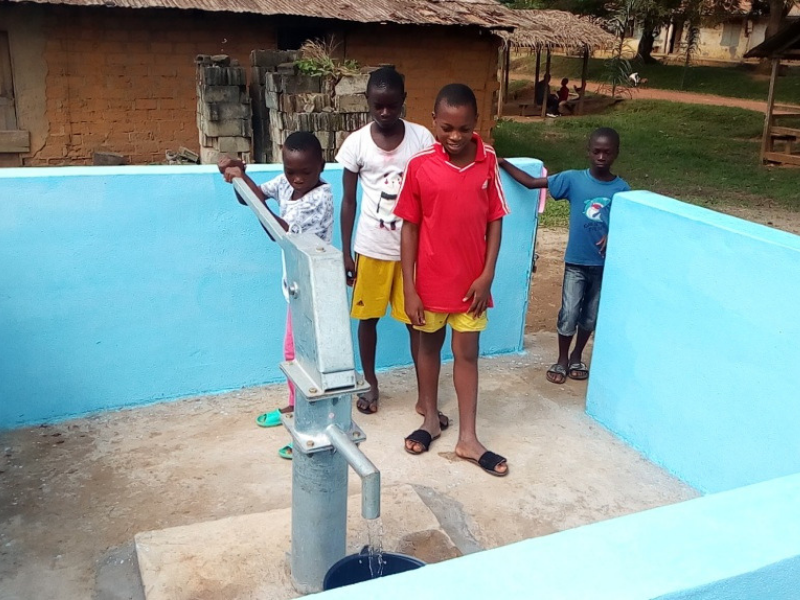 "Borehole for Abomvomba Village, Cameroon: ""Objective Achieved"""