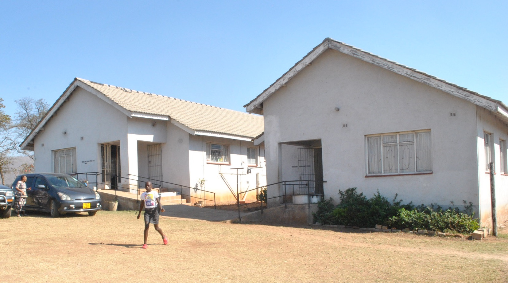 Boy outside Lerato Children's Home in Zimbabwe get Solar Panels